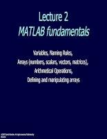 Lecture 2MATLAB fundamentals potx