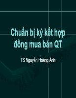 Chuẩn bị ký kết hợp đồng mua bán QT pot