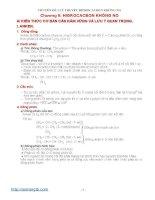CHUYÊN đề 3 lý THUYẾT HIDROCACBON KHÔNG NO