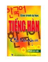 Giáo trình tự học tiếng Hàn cho mọi người (Phần sơ cấp) potx