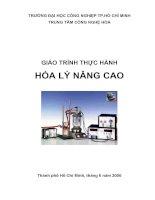 GIÁO TRÌNH THỰC HÀNH HÓA LÝ NÂNG CAO pdf