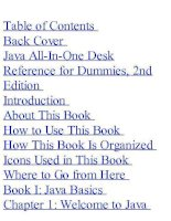 Java All-In-One Desk Reference for Dummies docx