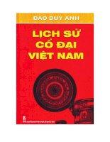 Lịch sử cổ đại Việt Nam pdf