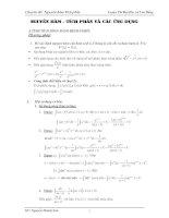 các dạng toán về nguyên hàm và tích phân