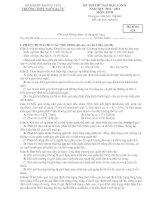 đề thi thử đại học môn sinh 2014 - thpt ngô gia tự (khánh hòa)
