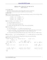 Đề cương ôn tập học kỳ II môn toán lớp 9 potx