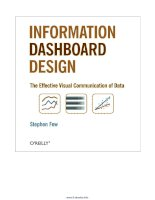 Information Dashboard Design: The Effective Visual Communication of Data pptx