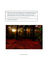 Study on the Development and Marketing of Non-Market Forest Products and Services pptx