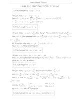 Bài tập phương trình vi phân pot