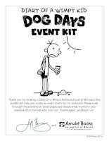 DIARY OF A WIMPY KID EVENT KIT ppt