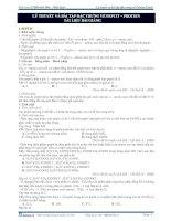 Lý thuyết và bài tập đặc trưng về peptit - protein (tài liệu bài giảng) potx