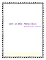 Bịnh Tâm Thần ( Mental illness ) pot