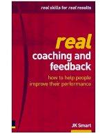 Real Coaching and Feedback: How to Help People Improve Their Performance docx
