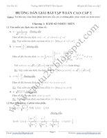 Bài tập có đáp án chi tiết chương hàm số nhiều biến