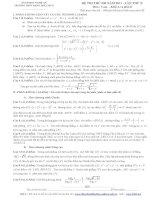 ĐỀ THI THỬ ĐH NĂM 2013 - LẦN THỨ II Môn : Toán - Khối A và khối B THPT ĐẶNG THÚC HỨA doc