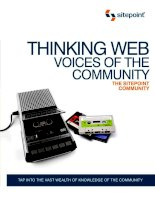 THINKING WEB VOICES OF THE COMMUNITY pot