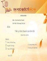 VHKD - nhóm 6 - TRiết lý kinh doanh của Kinh Đô ( thực phẩm) pptx