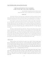 HIỆU QUẢ KINH TẾ SẢN XUẤT NẤM RƠM Ở PHÚ LƯƠNG, PHÚ VANG, THỪA THIÊN HUẾ ppt