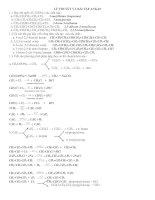 Bài tập ankan có lời giải chi tiết