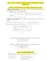 BÀI 1: GEN- MÃ DI TRUYỀN-VÀ QUÁ TRÌNH TỰ NHÂN ĐÔI ADN pdf