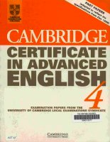 Cambridge CAE 4   student's book