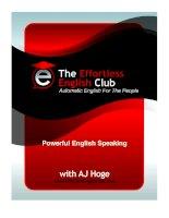EFFORTLESS ENGLISH A.J.HOGE PHƯƠNG PHÁP NÓI TIẾNG ANH TỰ ĐỘNG docx