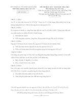 Đề thi học kì 1 môn Hóa 10D3 cơ bản trường Chu Văn An pot