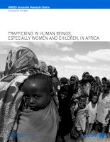 TRAFFICKING IN HUMAN BEINGS, ESPECIALLY WOMEN AND CHILDREN, IN AFRICA ppt