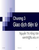 bài giảng thương mại điện tử chương 3 - gv.nguyễn thị hồng vân