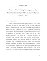 Review of the Existing Techniques for the Determination of Dry Rubber Content in Natural potx
