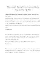 Tổng hợp các dịch vụ Upload và chia sẻ thông dụng nhất tại Việt Nam pdf