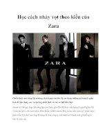 Học cách nhảy vọt theo kiểu của Zara pptx