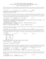 GIẢI CHI TIẾT CÁC CÂU DỄ SAI TRONG ĐỀ THI KHỐI B. 2012 - Môn thi : HÓA, khối B - Mã đề : 359 pdf
