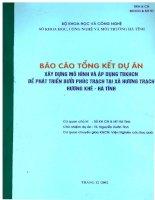 Báo cáo tổng kết dự án: Xây dựng Mô hình và áp dụng tiến bộ khoa học kỹ thuật để phát triển bưởi Phúc Trạch tại xã Hương Trạch, Hương Khê, Hà Tĩnh docx