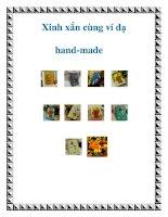 Xinh xắn cùng ví dạ hand-made ppt