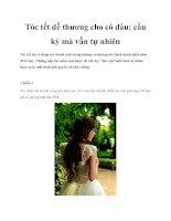 Tóc tết dễ thương cho cô dâu: cầu kỳ mà vẫn tự nhiên docx