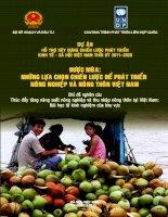 Thúc đẩy tăng năng suát nông nghiệp và thu thập nông thôn tại Việt Nam : bài học từ kinh nghiệm của khu vực pptx