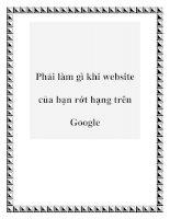 Phải làm gì khi website của bạn rớt hạng trên Google ppt