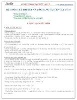 HỆ THỐNG lý THUYẾT và các DẠNG bài tập vật lý 10