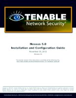 Nessus 5.0 Installation and Configuration Guide potx