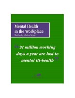 Mental Health in the Workplace Tackling the effects of stress pdf