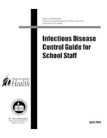 Infectious Disease Control Guide for School Staff ppt