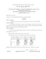 đề thi lí thuyết chuyên môn nghề tốt nghiệp cao đẳng khóa 2 - điện dân dụng -mã đề thi đdd - lt (18)
