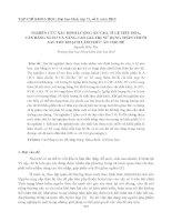 NGHIÊN CỨU XÁC ĐỊNH LƯỢNG ĂN VÀO, TỈ LỆ TIÊU HÓA, CÂN BẰNG NI-TƠ VÀ NÂNG CAO GIÁ TRỊ SỬ DỤNG THÂN CHUỐI SAU THU HOẠCH LÀM THỨC ĂN CHO DÊ doc