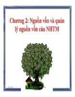 Chương 2: Nguồn vốn và quản lý nguồn vốn của ngân hàng thương mại ppt