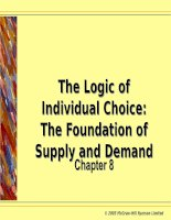 The Logic of Individual Choice:The Foundation of Supply and Demand ppt