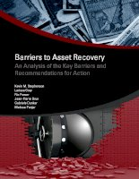 barriers to asset recovery an analysis of the key barriers and recommendations for action