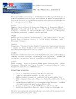 MANAGEMENT PROCESS AND ORGANISATIONAL BEHAVIOUR OBJECTIVES pptx