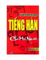 Giáo trình tự học tiếng Hàn cho mọi người (Phần trung cấp) pptx