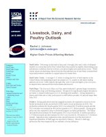 Livestock, Dairy, and Poultry Outlook potx